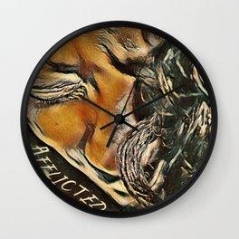 Afflicted Digital Art Photography Wall Clock