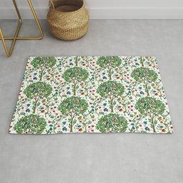 William Morris Tree of Life Pattern, Green & Multi Rug