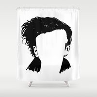 1975 Shower Curtains featuring Matt Healy Silhuette Drawing by summergirl