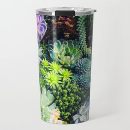 Beautiful Colorful Succulent Plant Garden Travel Mug