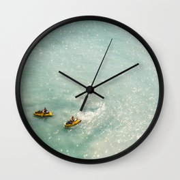 Jet Ski Friends in the Ocean | Paradise | Beach Mood | Aerial Photography | Ocean Print Wall Clock