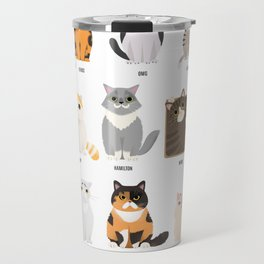 the most Famous Cats of the Internet Travel Mug
