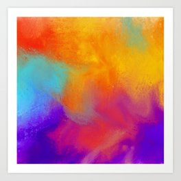 Summer Storm Abstract Painting Art Print
