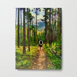 trail dog Metal Print