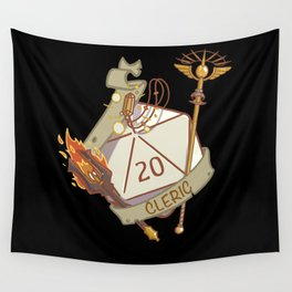 Cleric D20 fantasy Dice Wall Tapestry
