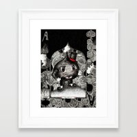 ace Framed Art Prints featuring Ace by Anca Chelaru