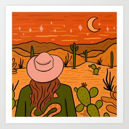Desert Girl Art Print