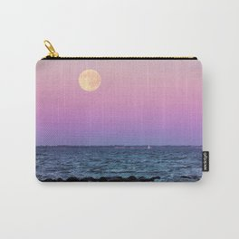 #full #moon #Blue #hour #over the #sea Carry-All Pouch