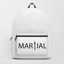 Martial / One word creative typography design Backpack