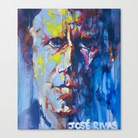 tom waits Canvas Prints featuring Tom Waits by Jose Rivas