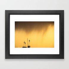 Coming Rain Framed Art Print