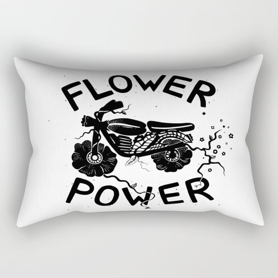 Floral Fuel Rectangular Pillow
