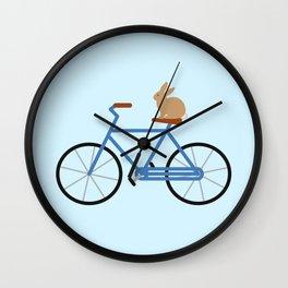 Bunny Riding Bike Wall Clock