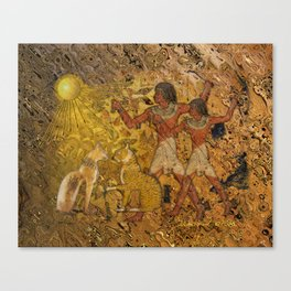 Aten Watching over the Cats Canvas Print