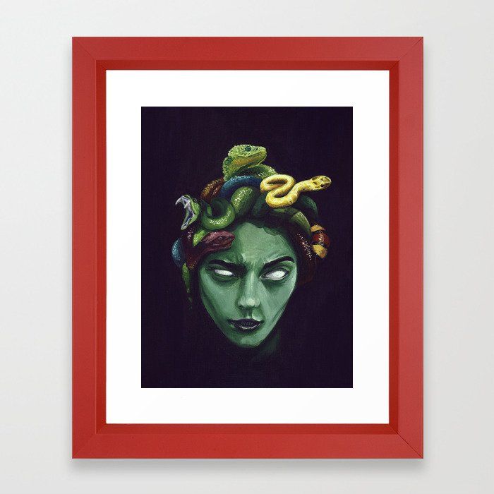 Dark Medusa Framed Art Print