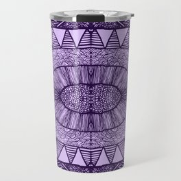 Grape Tangled Mania Pattern Doodle Design Travel Mug