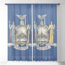 New York State Flag Sheer Curtain