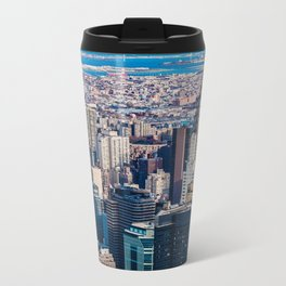 Midtown from top (HDR Color) Metal Travel Mug