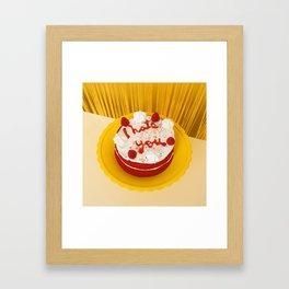 Honest cake Framed Art Print