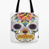 tatoo Tote Bags featuring Tatoo ART 4  by The Greedy Fox