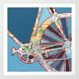 Bike Baltimore, Maryland Art Print
