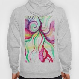Red and Green Holiday watercolor Hoody