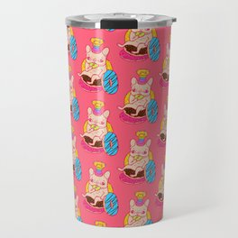 Frenchie is The King of Doughnuts Travel Mug