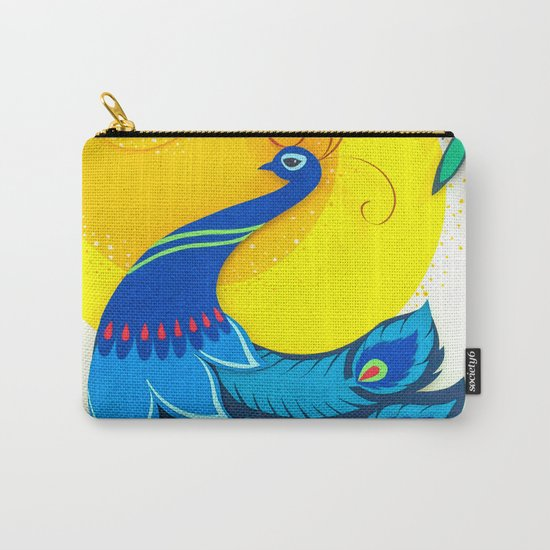 Peacock Paper Art Carry-All Pouch
