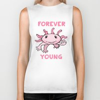 forever young Biker Tanks featuring Forever Young by Janusz Kali Kaliszczak