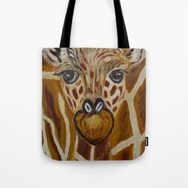 Baby Giraffe Art, Kids Room Bathroom Art, Zoo Animals, Nursery Room Tote Bag