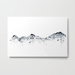 Eiger/Mönch/Jungfrau mountainsplash grey Metal Print