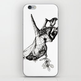 Jurassic Bloom - The Horned. iPhone Skin