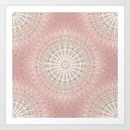 Rose Geometric Mandala Art Print