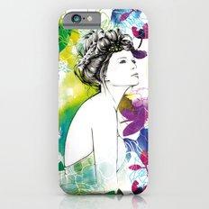 Bella fashion watercolor portrait iPhone 6s Slim Case