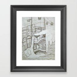 Fragmented Memory Framed Art Print