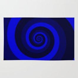 blue vortex Rug