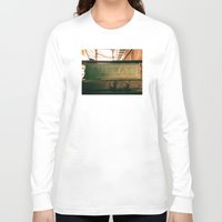subway Long Sleeve T-shirts featuring Subway by Kimball Gray
