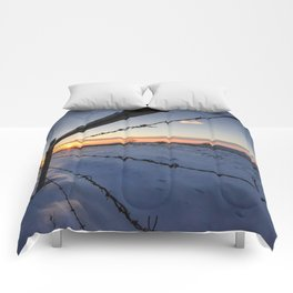 Barbed Wire Sunrise Comforters