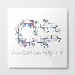 Contemporary 17 PE WH R Metal Print
