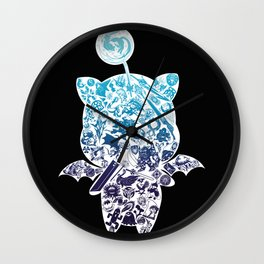 Moogleverse (blue) Wall Clock