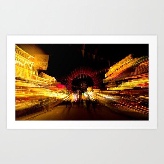 Light action  Art Print
