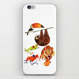 Rainforest animals 2 iPhone Skin
