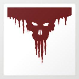 Dissolved Blood Skull Art Print