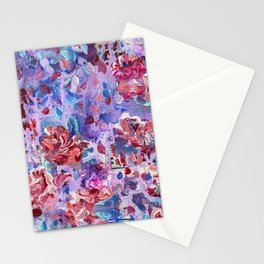 She's a wild one - Abstract floral painting Stationery Cards