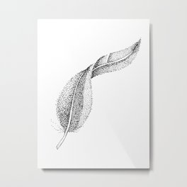 Dotted Feather Metal Print