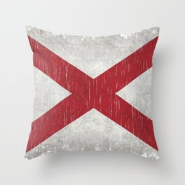 State flag of Alabama - Vintage version Throw Pillow