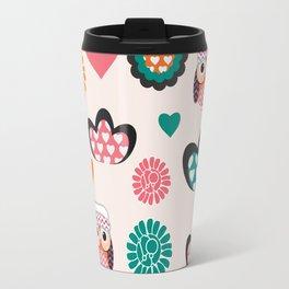 Owls and hearts Travel Mug