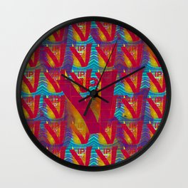 V - pattern VIP Wall Clock