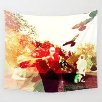 mandie manzano Wall Tapestries featuring OPPROBRIUM by Chrisb Marquez