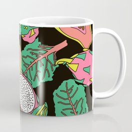 Exotic Jungle Tropical Fruit - Summer Spring Foliage Tropical retro Botanical Plants Leaves Coffee Mug